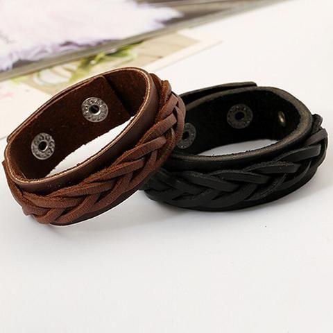 Men's Plaited Leather Bracelet