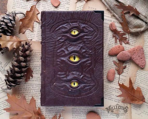 handgemachte Lederhandwerk Journal braunem Leder von MilleCuirs