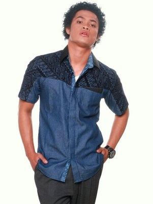 Dae Natara Shirt, denim batik by Lazuli Sarae