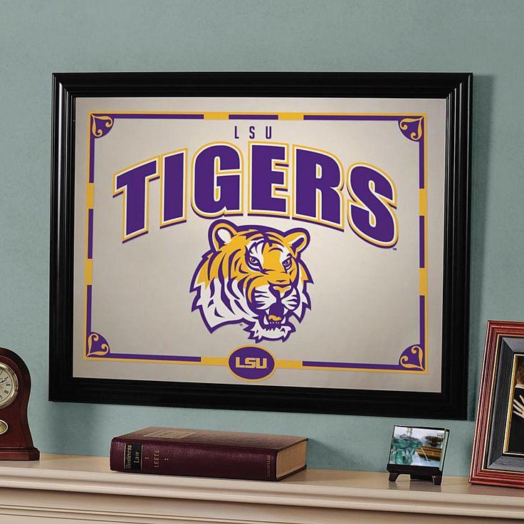 MEMORY Company Framed Collegiate Mirror - Louisiana State University (LSU) Tigers