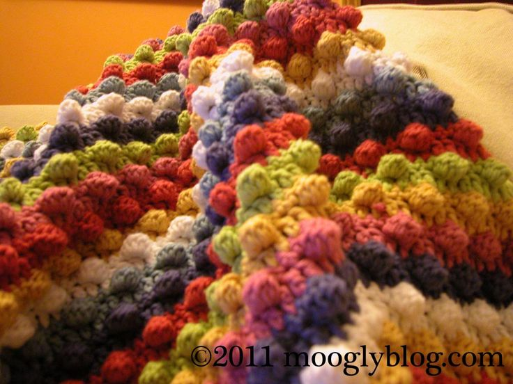 Check out this colorful baby blanket @mooglyblog crochet with Cotton-Ease. Would make a great summer baby gift.