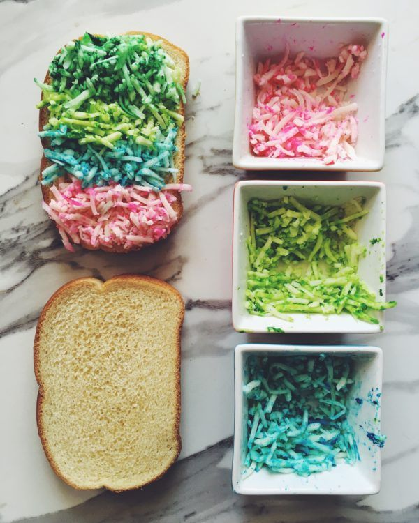 How to Make a Neon Rainbow Grilled Cheese - by Sandwich Expert MacKenzie Smith of Grilled Cheese Social!