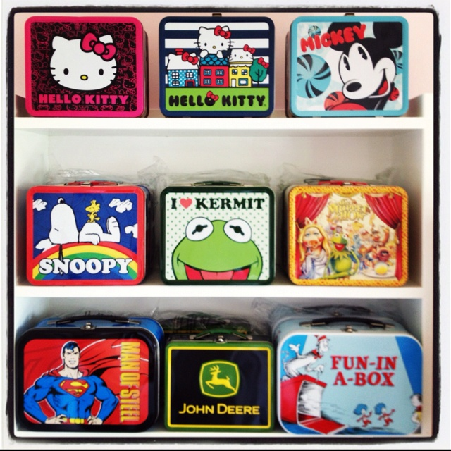Nothing more kool than old skool. Vintage reproduction lunchbox's.