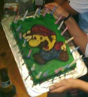 Super Mario cake for my 20th in 2008