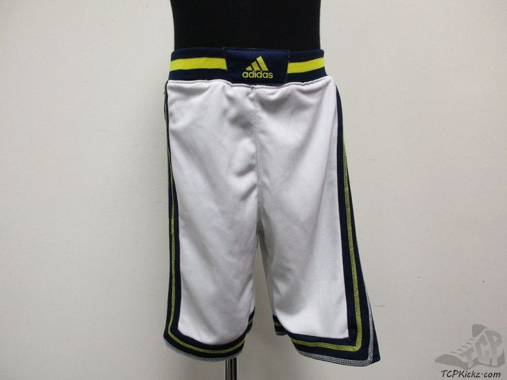 Adidas Michigan Wolverines Basketball Shorts sz Youth S Small University Home  #adidas #MichiganWolverines