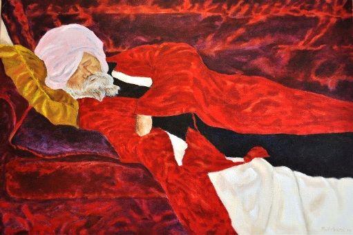 Sick Hubbie; oil on canvas 120cm x 60cm