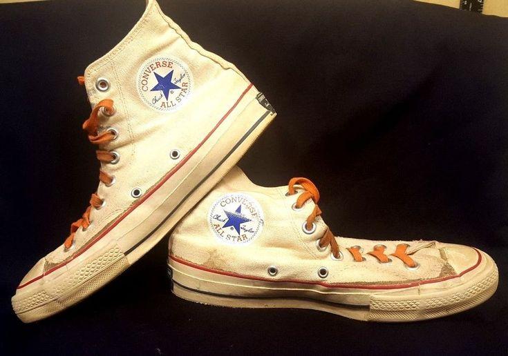 VTG 1960s Converse All Star Chuck Taylor High Top Tennis Shoes Women 8.5 Men 6.5 #Converse #ChuckTaylor