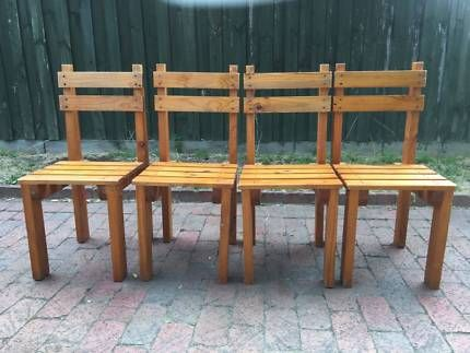 Rare Custom made Rustic solid wood bench chairs Unique! | Dining Chairs | Gumtree Australia Banyule Area - Watsonia | 1133613798