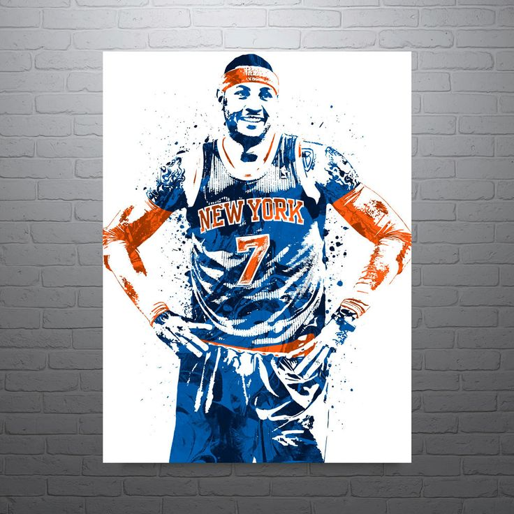 Carmelo Anthony poster. Anthony is an American professional basketball player for the New York Knicks of the National Basketball Association (NBA). Anthony attended Towson Catholic High School and Oak