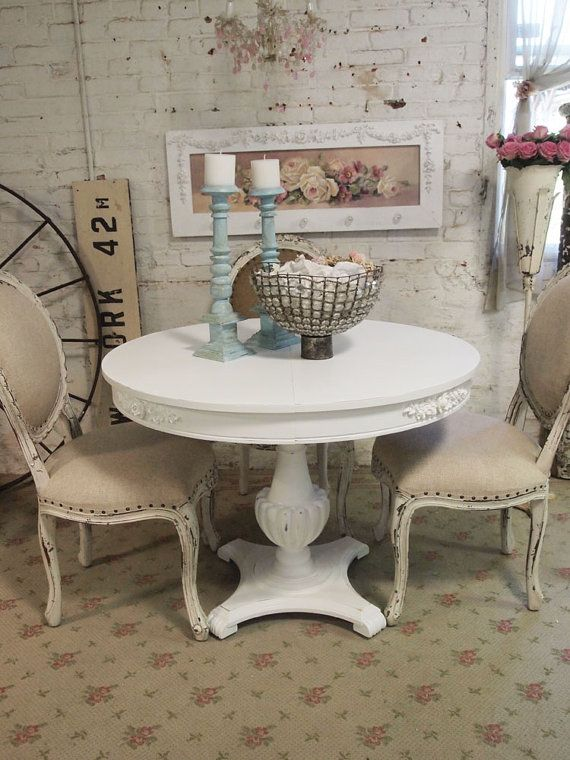 Shabby White French Dining Table TBL39