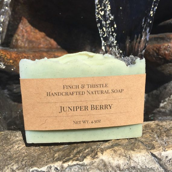 This listing is for one 4-4.5oz bar of our Juniper Berry soap, handmade, naturally! Ingredients: Olive Oil, Distilled Water, Sodium Hydroxide, Coconut Oil, Cocoa Butter, Shea Butter, Sweet Almond Oil, Castor Oil, Juniper Berry Essential Oil, Poppy Seeds All of our soaps are handmade in small batches using the cold process method and are cured for a minimum of 4 weeks. You wont find any synthetic fragrances, colorants or dyes in our soaps as we value the benefits given to us by nature. We…