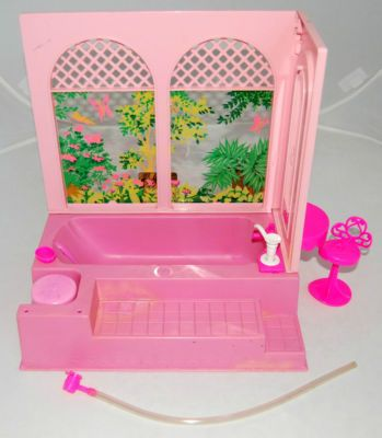Vintage Barbie Bubble Bath.  I had this and loved it!  I remember it so well... It had a teeny tiny bar of soap.