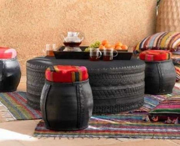 Ideas de cómo reciclar neumáticos en forma casera