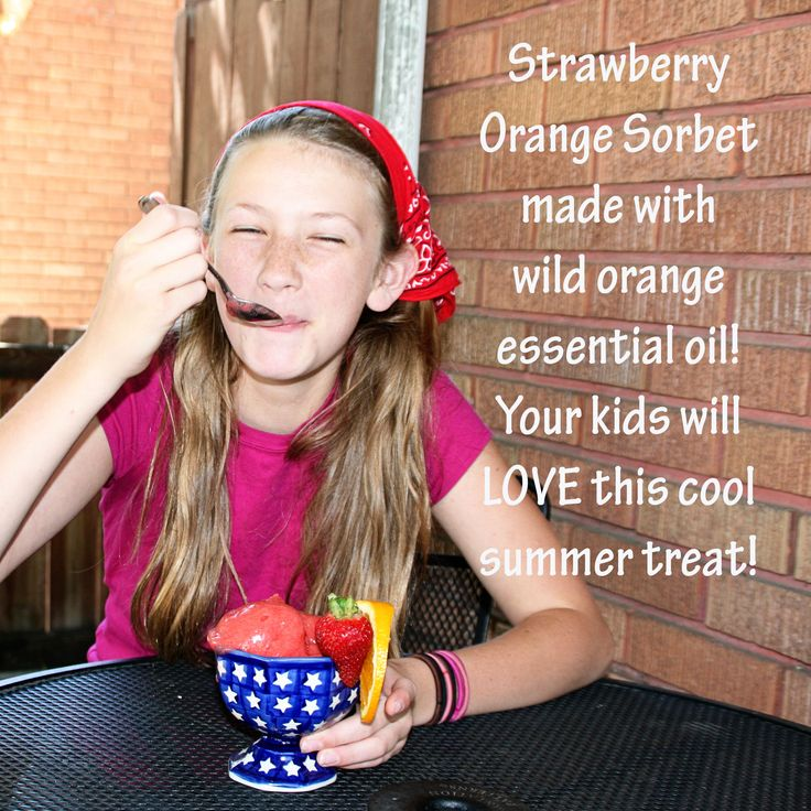 Looking for a cool and delicious treat this summer? Try this delicious Strawberry Orange Sorbet using wild orange essential oil.