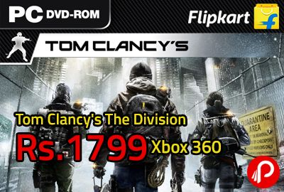 Flipkart is offering pre order of Tom Clancy's The Division @ 1799 for Xbox 360. What would you do when a devastating pandemic sweeps through your city and everything falls apart? Join the Division, an autonomous unit of tactical agents trained to operate independently, and help restore hope and peace in the city you love.Tom Clancy's The Division is a single-player/multiplayer,   http://www.paisebachaoindia.com/tom-clancys-the-division-1799-xbox-360-preorder-flipkart/