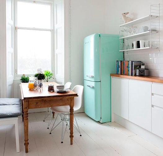colourful Smeg fridge