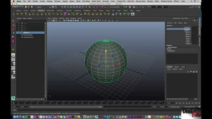 Components, Objects, Channel Box and Attributes in Maya
