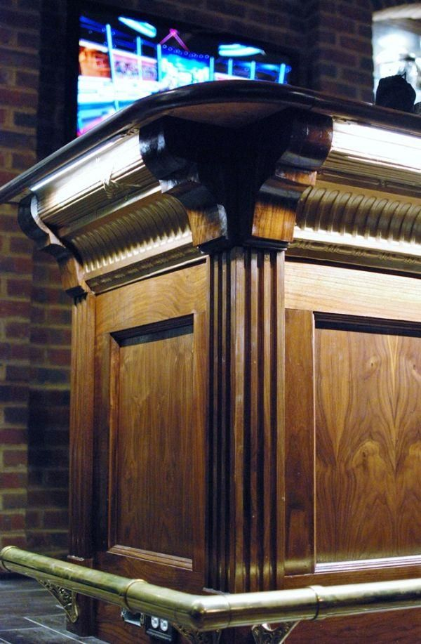Our Bar Front Fluted Columns, Corners And Trim Kits In American Walnut.
