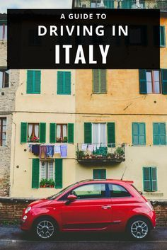 Driving in Italy: tips for an Italian road trip - car rental, road rules, more via @untoldmorsels #italy #traveltips #travelguide