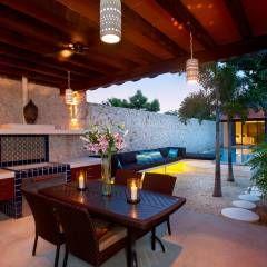 Terraza: Terrazas de estilo translation missing: mx.style.terrazas.mediterraneo por Taller Estilo Arquitectura