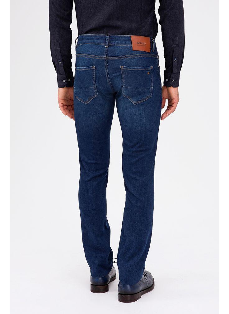 Модные мужские джинсы темно синего цвета - Otokodesign.com
