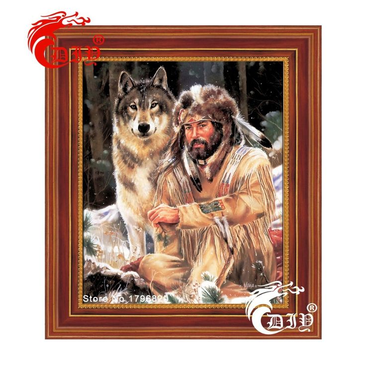 High quality! Diy diamond painting diamond embroidery lone wolf pictures of rhinestones hobbies and crafts home decor needlework