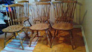 6 vintage oak kitchen chairs