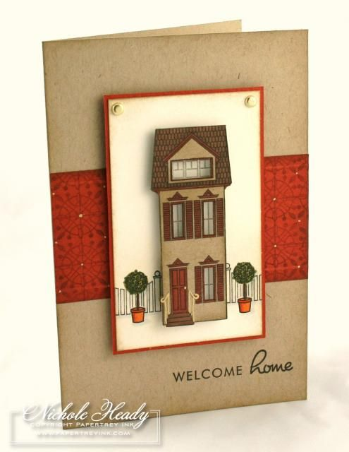 Card Making Ideas For Housewarming Part - 21: Welcome Home Card