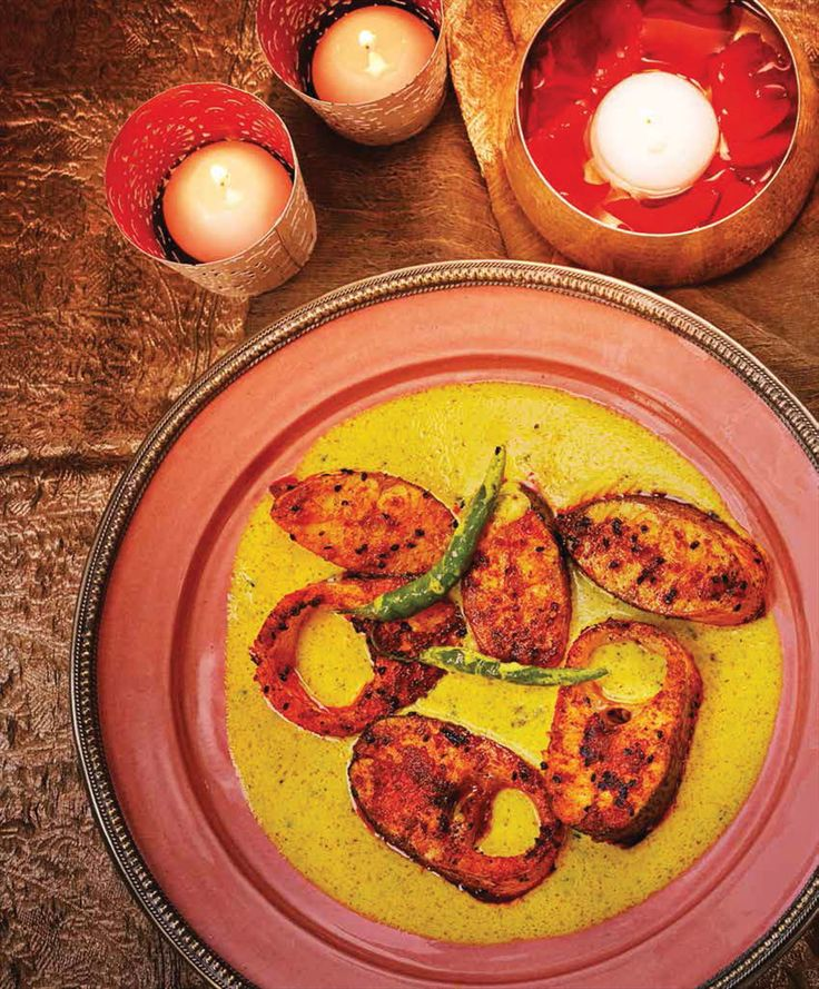 Bengali fish in mustard sauce recipe from Indian Festival Feasts by Vivek Singh   Cooked