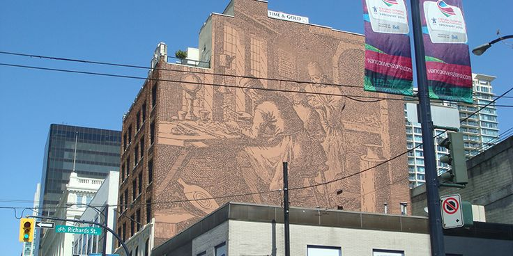 Randall Building (Photo by Nicholas Pollock on Flickr) | 6 surviving vintage murals in Vancouver