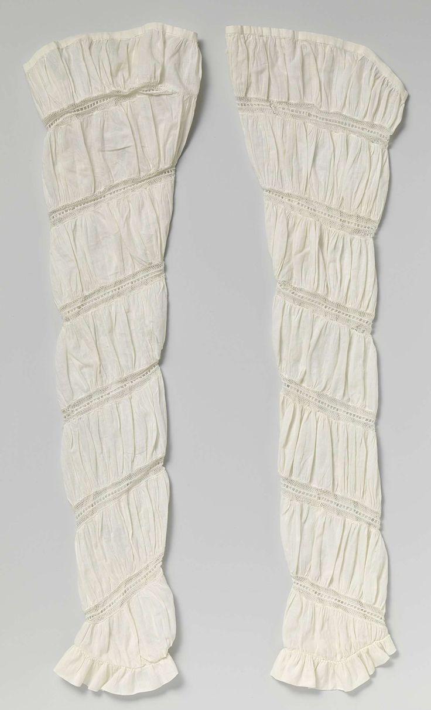 Paar mouwen met spiraalvormig geplaatst tussenzetsel, anoniem, ca. 1820 - might be earlier, additional sleeves