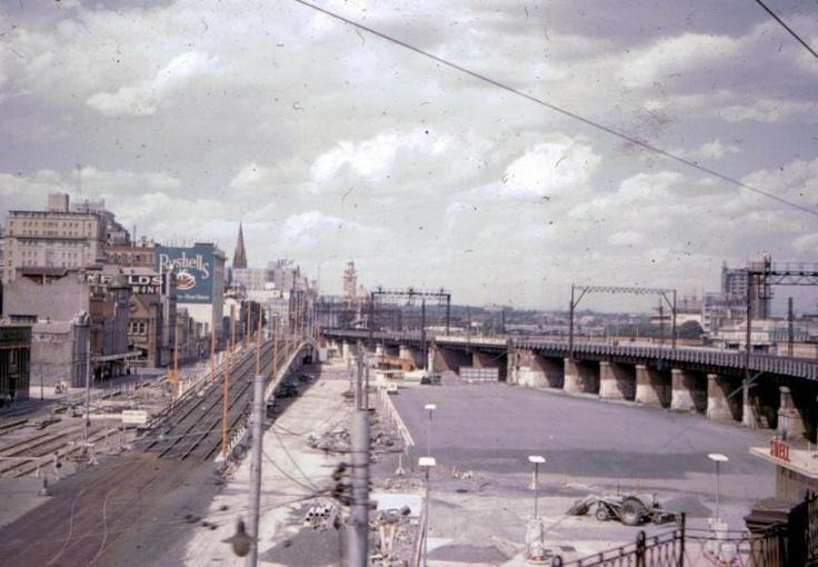 Flinders St overpass 1960s