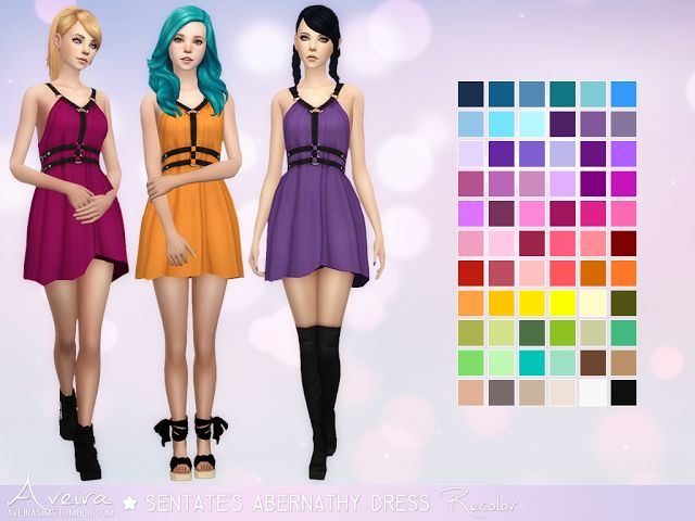 Sims 4 CC's - The Best: Sentate's Abernathy Dress - Recolor by aveirasims