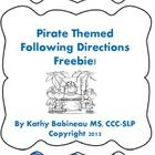 Ahoy Matey!  Here's a quick and easy following directions activity.    Simply print multiple copies of the b/w coloring worksheet and then read the ...