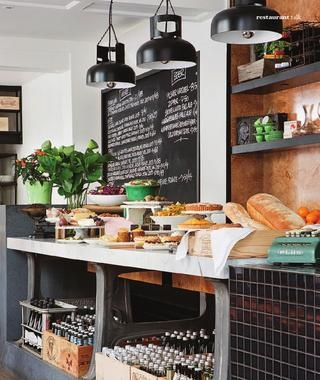 It's a beautiful Melbourne Bar but could be easily adapted for a residential kitchen - Love it