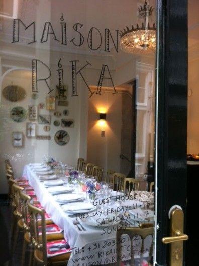 Diner bij Maison Rika - Nederland