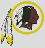 Cross Stitch Chart of Washington Redskins Logo Design