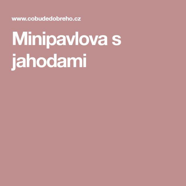 Minipavlova s jahodami
