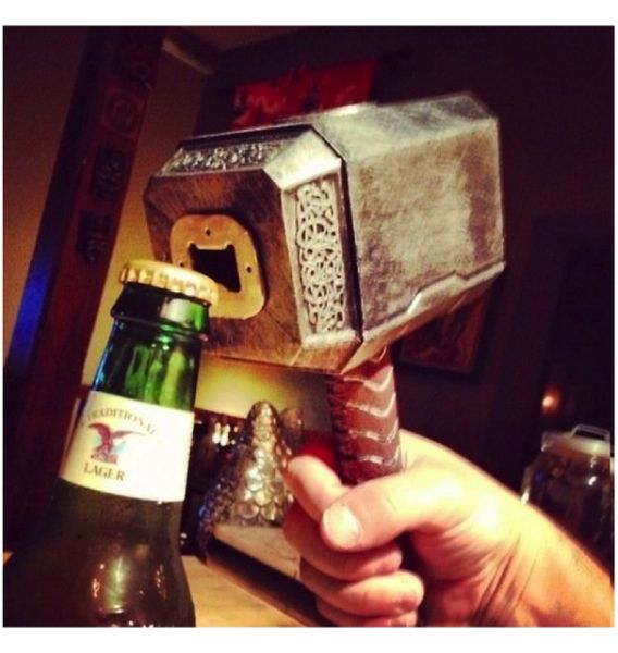 Thors Hammer Bottle Opener - $16-- If only I actually needed a bottle opener, going to have to start buying fancy sodas now!