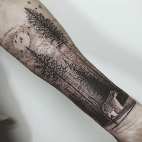 Tatouage dotwork Thomas Sinnamond                                                                                                                                                                                 Plus