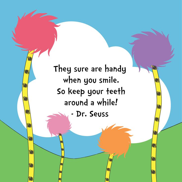 "AS DR. SEUSS SAID, ""Teeth are always in style."" We couldn't agree more! #parkridgedentist #drseussday"