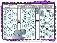 More of my math games have had a makeover! This time it is the Division Board Games and Multiplication Board Games and of course some freebi...