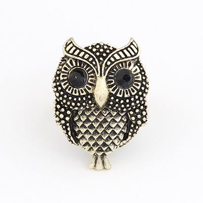 Renaissanc Gold Color Owl Alloy Korean Rings Gold Color. Fashionable with passion REPIN if you like it.😊 Only 15.5 IDR