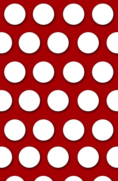 Red Polka Dots Art Print by Chelsea Hunter