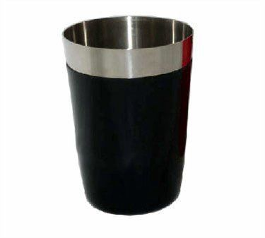 "Winco BS-28P Bar Shaker by Winco. $8.90. Easier to grip while shaking.. Stainless steel with plastic coating.. Capacity: 28 oz.. Chill your drinks, not your hands.. Dimensions: 3 3/4""W x 7""H.. Bar Shaker, 28 ounce, stainless steel w/plastic coating, black,"