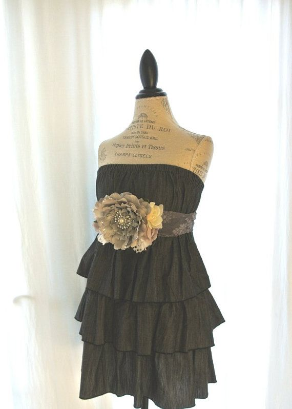 Gypsy cowgirl strapless dress country chic by TrueRebelClothing, $66.00