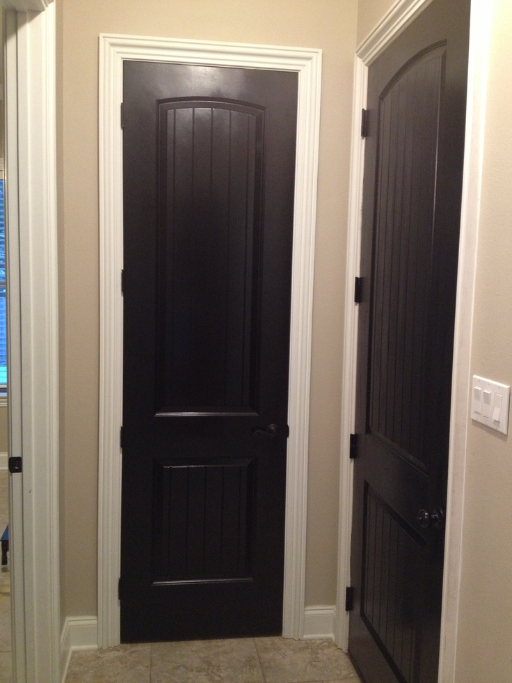 Black doors white trim love it new house ideas pinterest doors black doors and love - Sophisticated black interior doors ...