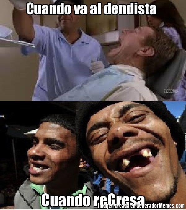 Cuando va al dendista  Cuando reGresa - Meme chimuelos 34