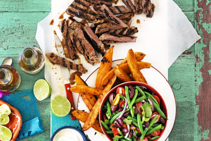 Spice up an everyday rump steak with these Mexican flavours for a fiesta that the whole family will enjoy.