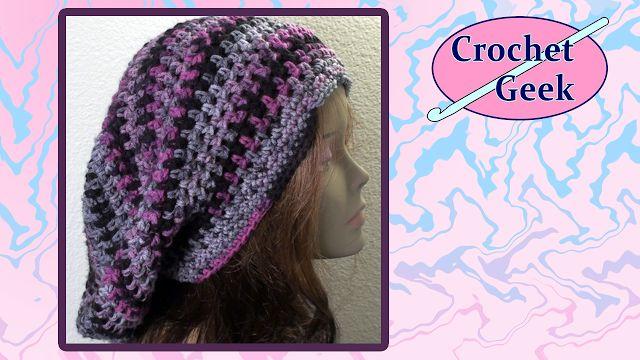 Crochet Geek - Free Instructions and Patterns: Bob Marley Crochet Slouch Cap Crochet Along